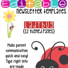 Newsletter Templates (10 included): Ladybug Theme