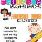 Newsletter Templates (12 included): School Kids Theme