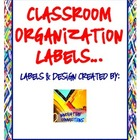 Classroom Organization Labels