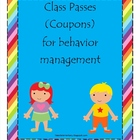 Classroom Passes (Coupons)