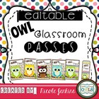 Classroom Passes OWL Theme