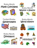 Classroom Picture Book Basket Labels