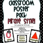 Classroom Poster Pack- Pirate Theme! Color words, Number w