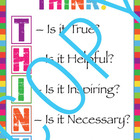 Classroom Poster - THINK (classroom management) elementary