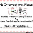 Classroom Posters to Build Independence