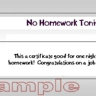 Classroom Rewards - No Homework, Star Student, & Outstandi