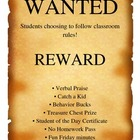 Classroom Rewards poster