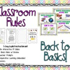 Classroom Rules: Back to Basics (Explicit Instruction) 5-Day Unit