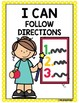 Classroom Rules- ENGLISH posters in yellow polka dot theme