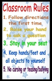 Classroom Rules Poster 11x17