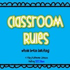 Classroom Rules Poster {Whole Brain Teaching}