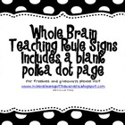 Classroom Rules - Whole Brain Teaching- Polka Dots