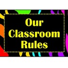 Classroom Rules-Zebra/bright colors