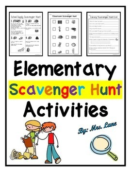Classroom Scavenger Hunt Packet (JAM-PACKED With Choices!)