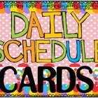 Classroom Schedule Cards Candy Theme
