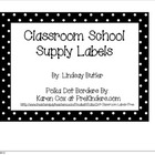 Classroom School Supply Labels