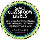 Classroom Set of Labels: Library &amp; Genre Labels, Word Wall
