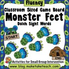 Classroom Sized Monster Sight Word Game Board