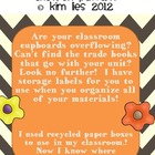 Classroom Storage Area Labels Chevron Pattern