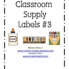 Classroom Supply Labels #3