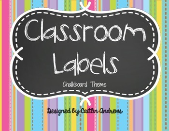 Classroom Supply Labels-Chalkboard Theme