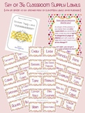 Classroom Supply Labels ~ Set of 36 ~ Cute, Small Dots