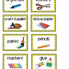 Classroom Supply Labels (for storage boxes)