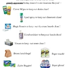 Classroom Supply Wish List