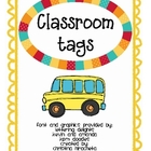 Classroom Tags (group leaders &amp; teacher assistants)