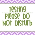 Classroom Testing Do Not Disturb Sign Purple Chevron
