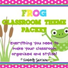 Classroom Theme {Frogs &amp; Polka Dots}