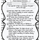 Classroom Volunteer Form for Parents