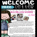 Classroom Welcome Letter for kids and parents