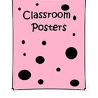 Classroom posters recycle etc.