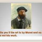 Claude Monet Power Point Assessment