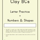 Clay With Me: Alphabet, Numbers and Shapes