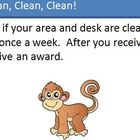 Clean Desk Monkey Reward Punch Card