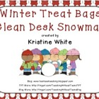 Clean Desk Snowman Treat Bag - Bag Toppers