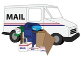 Clean and Simple Mail Box Letter Postal Service Clip Art