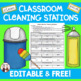 Cleaning the Classroom Stations for Students Beginning End