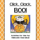 Click Clack BOO Halloween Comprehension Activities Craftivity