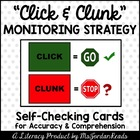Click &amp; Clunk: A Self-Check Strategy (Student Cards)