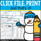 Click File, Print {and that's it!} Winter Print & Go Activ