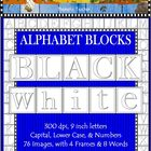 Clip Art Alphabet Blocks Black and White