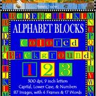 Clip Art Alphabet Blocks Colored Backgrounds