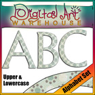 Clip Art: Alphabet and Punctuation Set Font Fonts