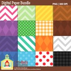 Clip Art: Backgrounds Bundle - 192 Digital Papers