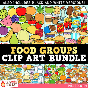 Clip Art - Big Food Bundle - 243 food-themed clipart graphics