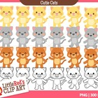 Clip Art - Cutie Cats - animal-themed clipart