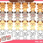 Clip Art - Cutie Dogs - animal-themed clipart